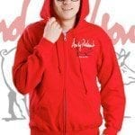 Andy Nelson Red Zip-Up Hoodie